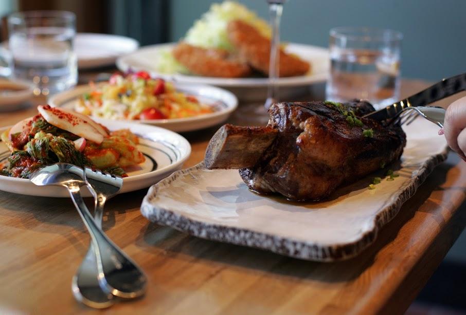 Grilled Koji Marinated Lan Roc Pork Shoulder